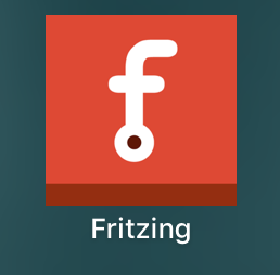 A quick view of the Fritzing circuit software icon